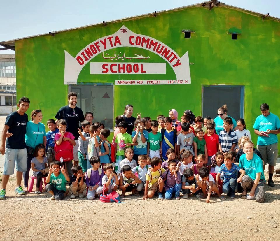 Oinofyta Refugee Camp School